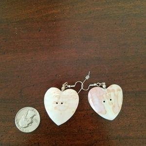 Jewelry - 💗 Native American shell heart earrings